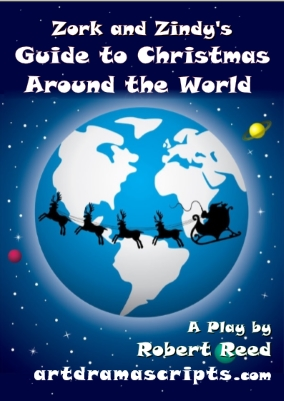 Zork and Zindy's Christmas Around the Word KS2 play for kids