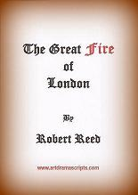 Great Fire of London play script cover.